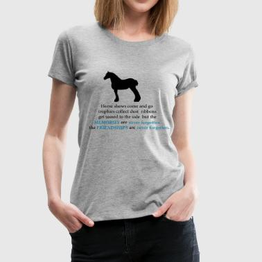 Draft Horse Silhouette with Quote - Women's Premium T-Shirt