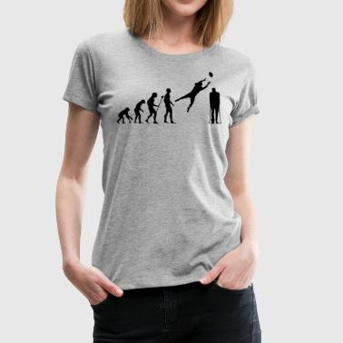 Stone Age Evolution American Football Rugby Broken Leg Foot - Women's Premium T-Shirt
