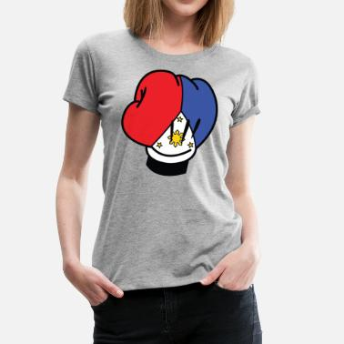 MP Filipino Flag Boxing Glove by AiReal Apparel - Women's Premium T-Shirt