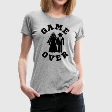 Wedding Party Game Over Tees Funny Wedding Video Gamer Groom - Women's Premium T-Shirt