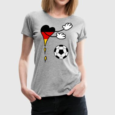 Fanshirt Flag Soccer Germany - Women's Premium T-Shirt
