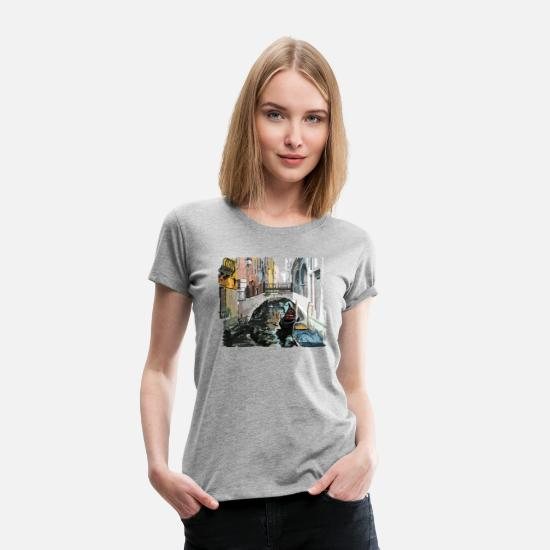 Venice T-Shirts - Venice - Women's Premium T-Shirt heather gray