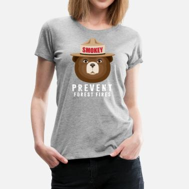 Smokey-the-bear A BEAR SMOKEY PREVENT FOREST FIRES T-STIRT - Women's Premium T-Shirt