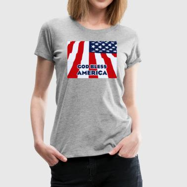 God bless America - Women's Premium T-Shirt