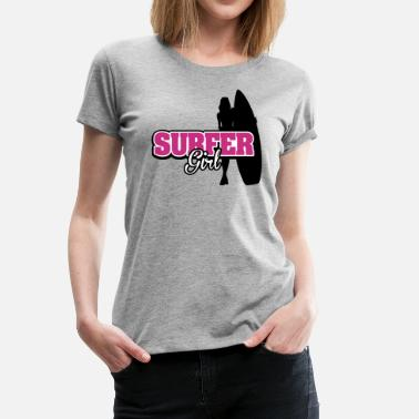 Surfer Surfer Girl - Women's Premium T-Shirt