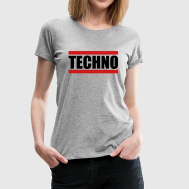 Techno Logo Design - Women's Premium T-Shirt