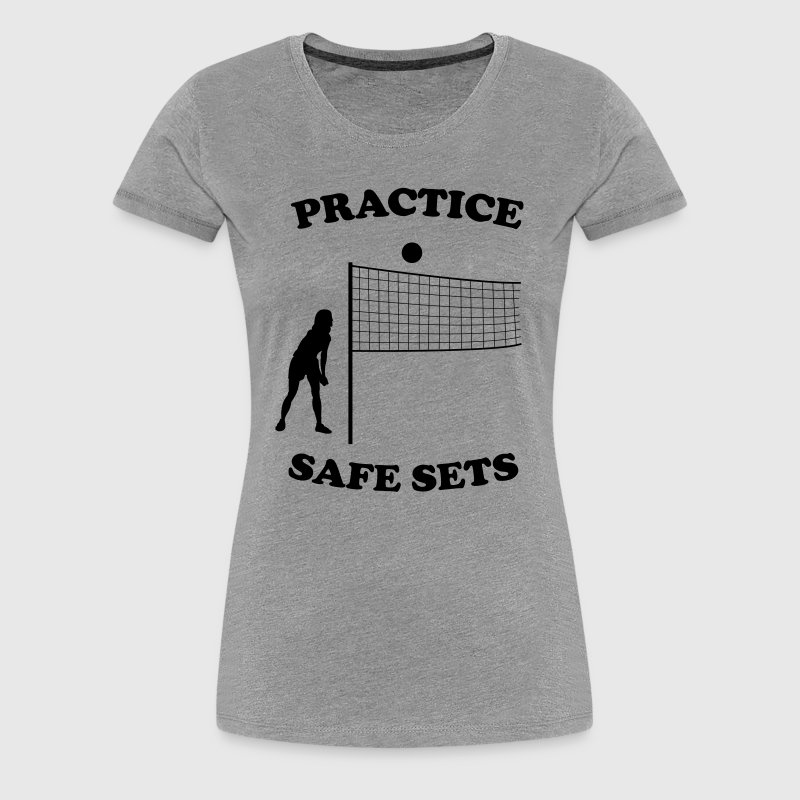 Volleyball. Practice safe sets - Women's Premium T-Shirt