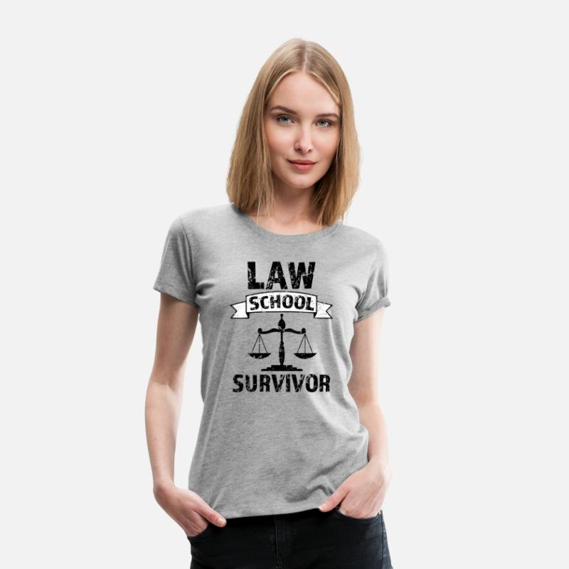 Lawyer T-Shirts - Law School Survivor funny saying attorney shirt - Women's Premium T-Shirt heather gray