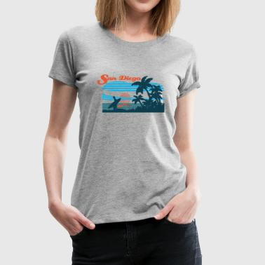 San Diego Beach California San Diego Beach - Women's Premium T-Shirt