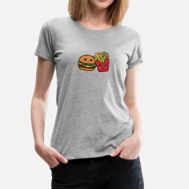 Burger And Fries Friends Best Friends Funny Cool Burger and Fries Gift - Women's Premium T-Shirt