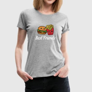 Burger And Fries Best Friend Best Friends Funny Cool Burger and Fries Gift - Women's Premium T-Shirt