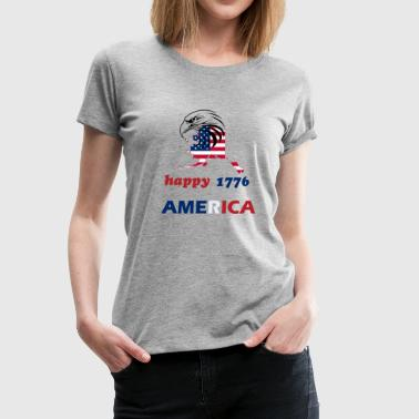 happy america 4th of july 1776 - Women's Premium T-Shirt
