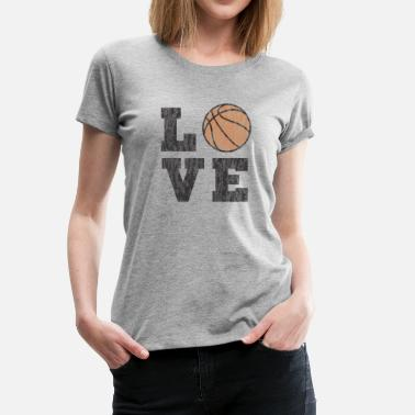 College Basketball Vintage Basketball Love - Women's Premium T-Shirt