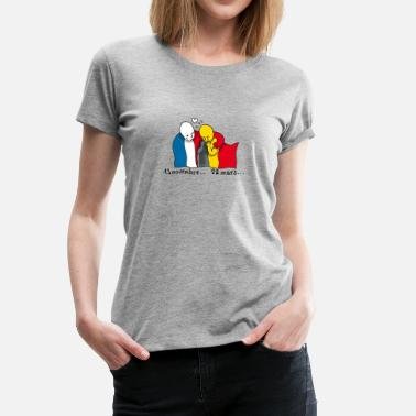 Terrorist Attack On Brussels Not again - Women's Premium T-Shirt