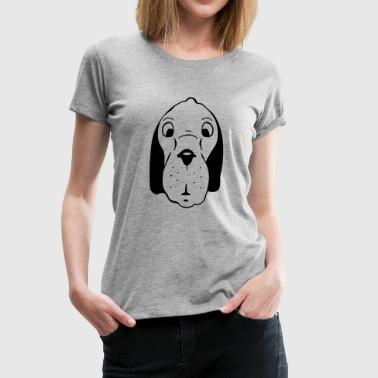 dog head - Women's Premium T-Shirt