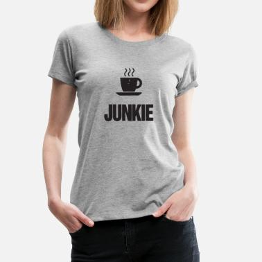 Junky Art New Design Vintage Coffee Junkie Best Seller - Women's Premium T-Shirt