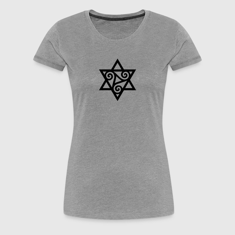 TRISKELE: Yin power symbol, vector, Merkaba, Energy Symbol, Protection Force - Women's Premium T-Shirt