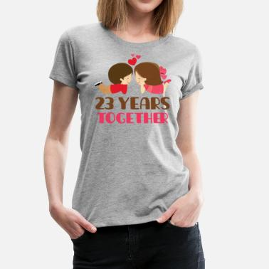 Celebrating 23 Years 23rd Anniversary Couples Gift 23 Years Together - Women's Premium T-Shirt