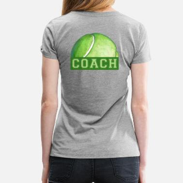 Tennis Art Coach Tennis Ball Art - Women's Premium T-Shirt