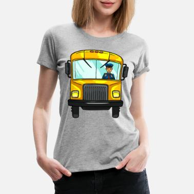 Morning After School Bus Drivers Transport Funny Gift - Women's Premium T-Shirt