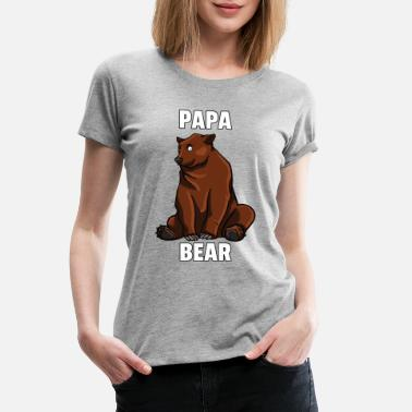 Boy Dad Bear Browns Bears Funny Sweet Papa Daddy Gift - Women's Premium T-Shirt