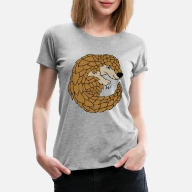 Mothers Day Pangolin Lovers Funny Cute Specie Save Gift - Women's Premium T-Shirt