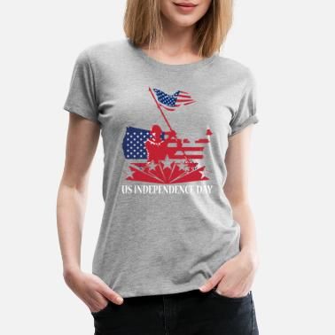 Independence US Independence Day T Shirt - Women's Premium T-Shirt