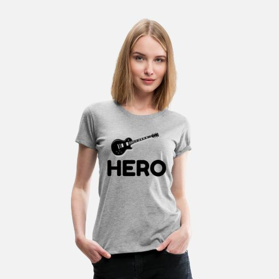 Guitar Player T-Shirts - Guitar Hero - Women's Premium T-Shirt heather gray