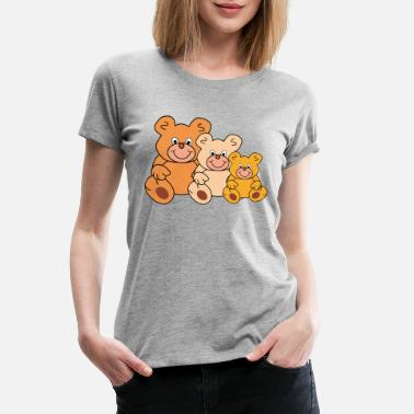 Funny Bear three funny teddy bears - Women's Premium T-Shirt