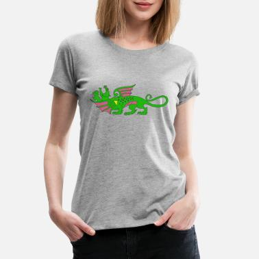 Green Dragon dragon - Women's Premium T-Shirt