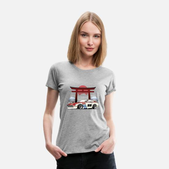 Cars T-Shirts - Car and Gate - Women's Premium T-Shirt heather gray
