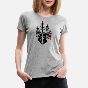 Reflection Tree reflection, forest reflection - Women's Premium T-Shirt