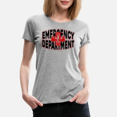 Emergency Department Emergency Department Heartbeat Shirt - Women's Premium T-Shirt