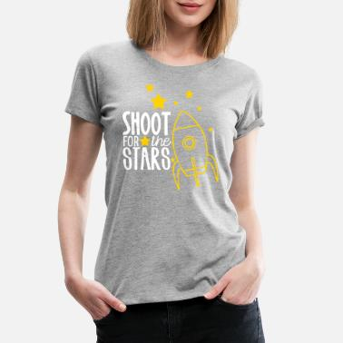 Education Shoot for the Stars teacher shirt - Women's Premium T-Shirt