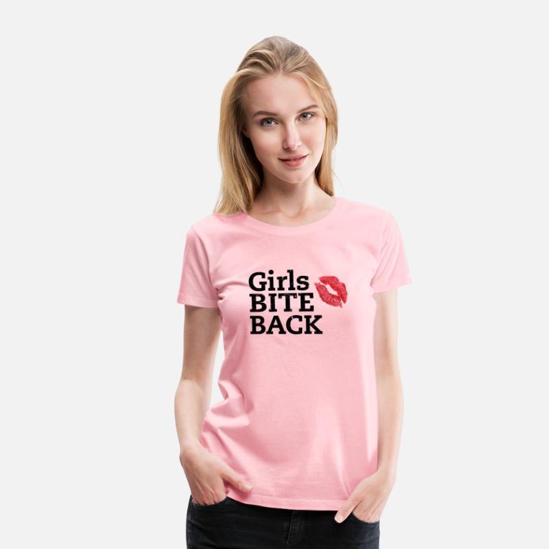 Halloween Shirt Ideas Girls.Girls Bite Back Halloween Gift Ideas Sports Shirt Women S Premium T Shirt Pink