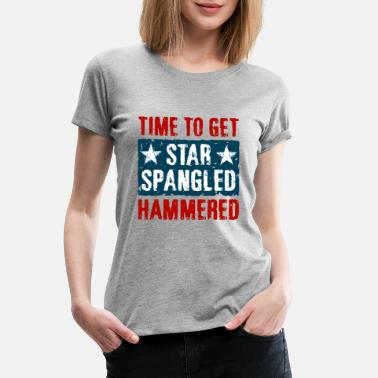 4th Of July Star Spangled Hammered - Women's Premium T-Shirt