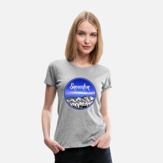 Mountains T-Shirts - Mount Snowdon - Women's Premium T-Shirt heather gray