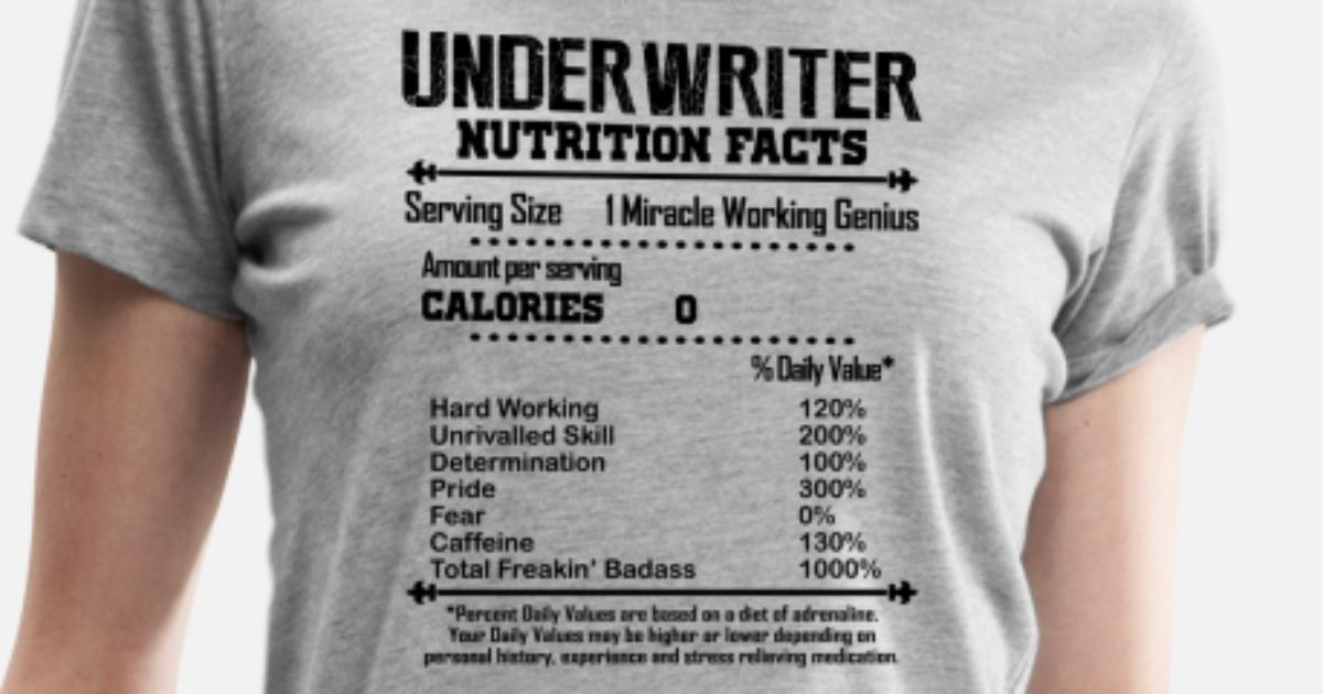 cb5b9cfc Underwriter Nutrition Facts Shirt Women's Premium T-Shirt   Spreadshirt