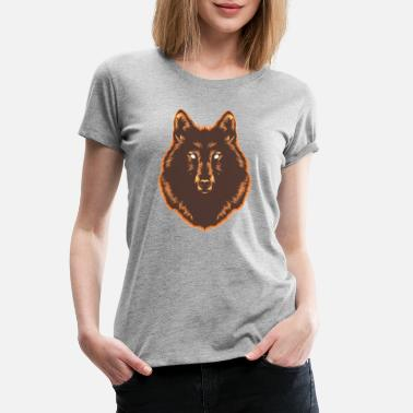 Unleash Your Inner Beast Wolf Orange Stroke - Women's Premium T-Shirt