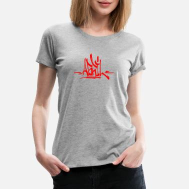 Abril Abril Tag Graffiti Hiphop Streetart - Women's Premium T-Shirt