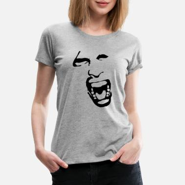 Scream And Shout crying face - scream - shout - Women's Premium T-Shirt