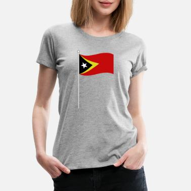 East Frisia flag of east timor - Women's Premium T-Shirt