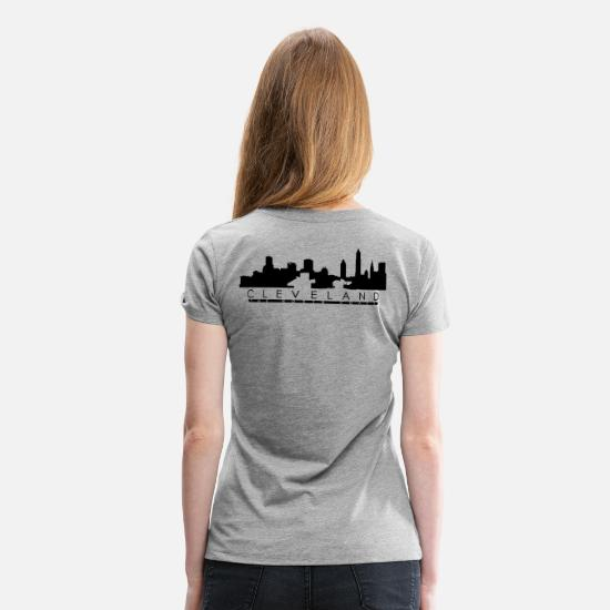 Science T-Shirts - Cleveland The North Shore - Women's Premium T-Shirt heather gray