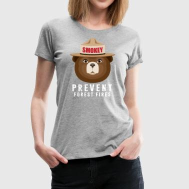 A BEAR SMOKEY PREVENT FOREST FIRES T-STIRT - Women's Premium T-Shirt