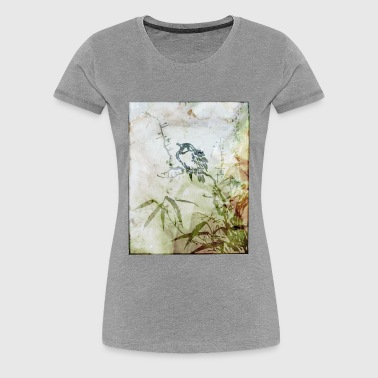 Japanese Bird Art - Women's Premium T-Shirt
