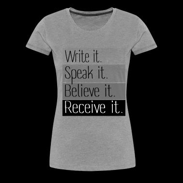 Write it - Women's Premium T-Shirt