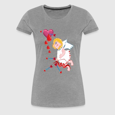 Cupid Shoots For The Heart - Women's Premium T-Shirt