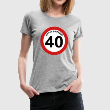 40th birthday - Women's Premium T-Shirt