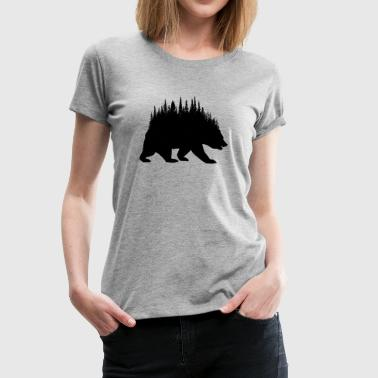 Forest Bear - Women's Premium T-Shirt