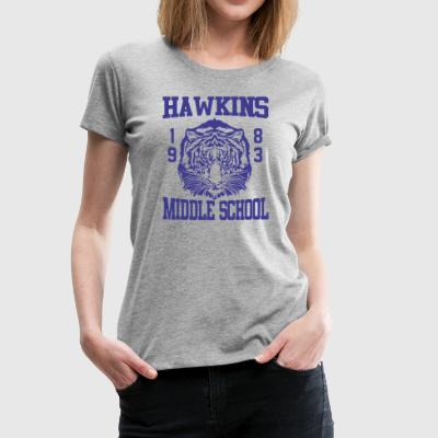 Stranger Things Hawkins Middle High School Tigers - Women's Premium T-Shirt